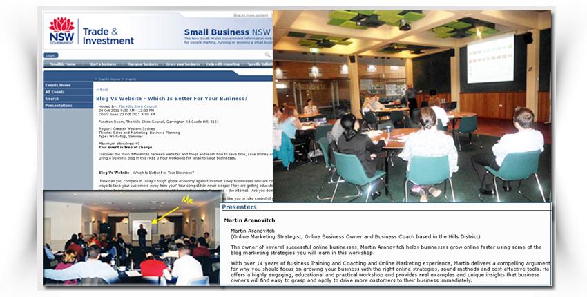 Martin Aranovitch - Presenting Business Seminars